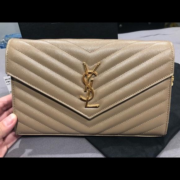 23ff1de011 Yves Saint Laurent Bags   Ysl Matelasse Monogram Wallet On Chain ...